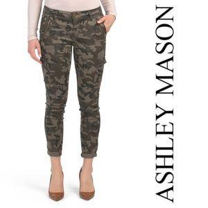 Ashley Mason Cropped Camo High Rise Skinny Jeans